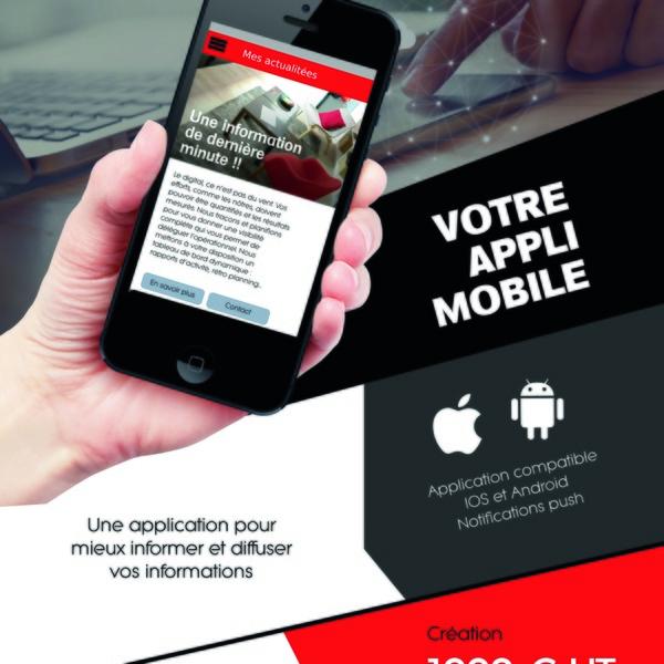Une application sur Android et IOS pour mieux informer et diffuser vos informations
