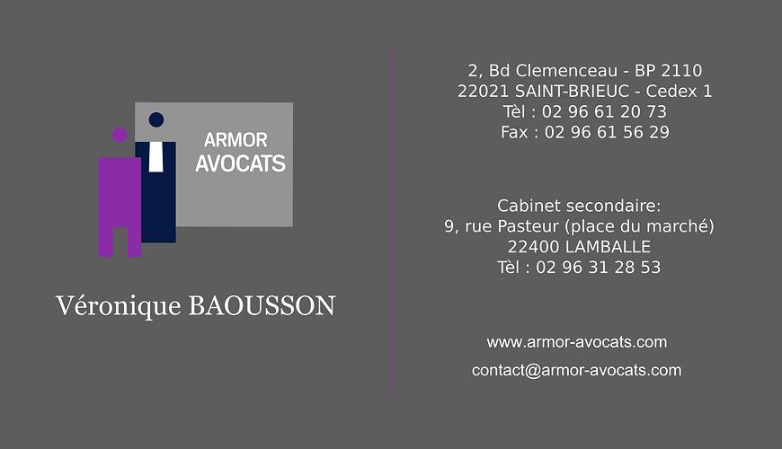 Armor Avocats, cabinet d''avocats à Saint-Brieuc, Guigamp et Lamballe recto