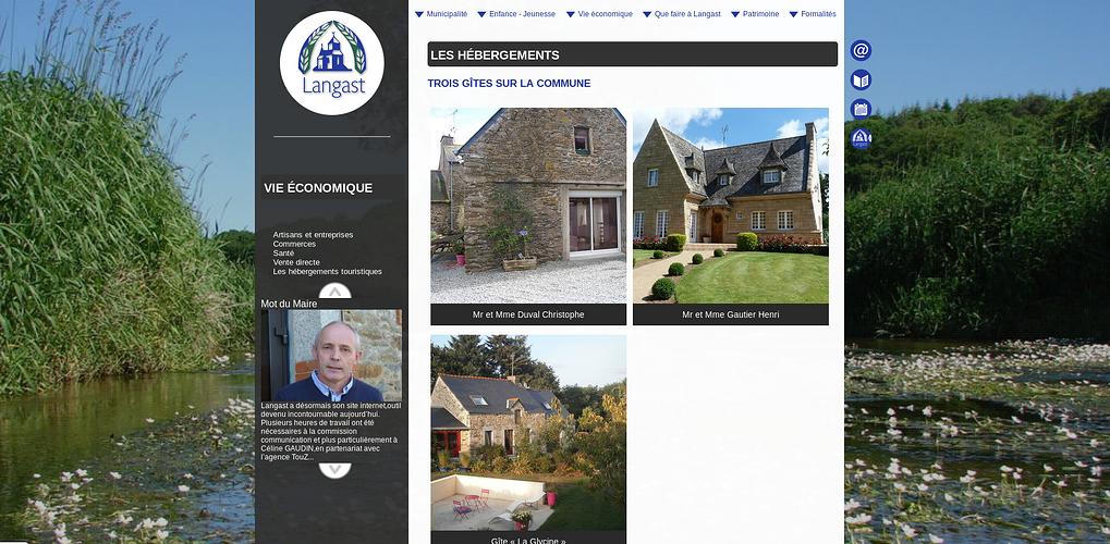 Site Internet de la Mairie de Langast langast3