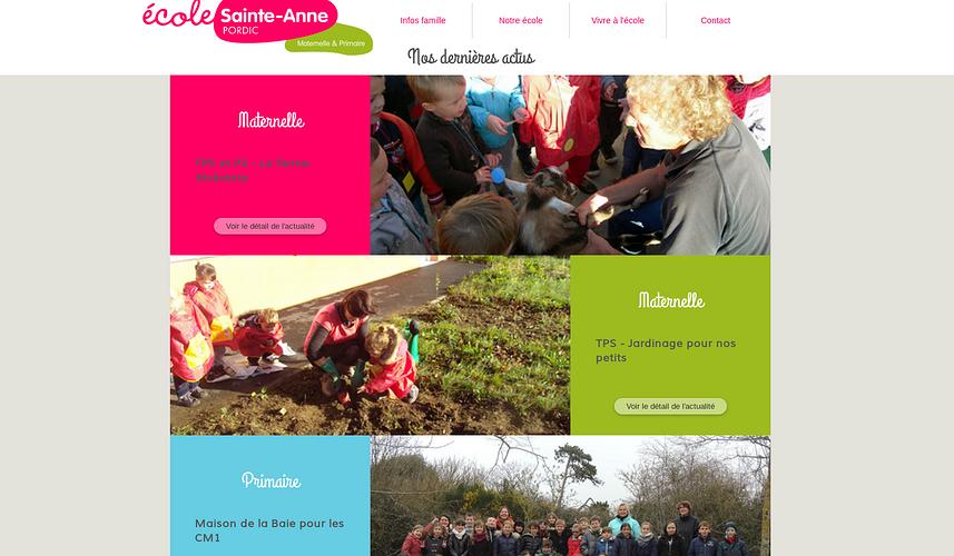 Ecole Ste-Anne - Pordic : le nouveau site est en ligne ste2