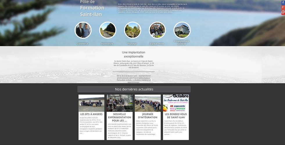 Lycée Saint-Ilan à Langueux, nouveau site et commandes en ligne ilan2