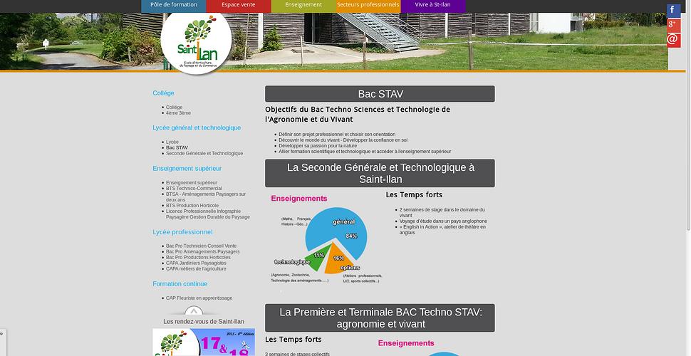 Lycée Saint-Ilan à Langueux, nouveau site et commandes en ligne ilan3