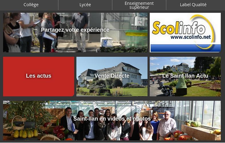 Lycée Saint-Ilan à Langueux, nouveau site et commandes en ligne stilan2