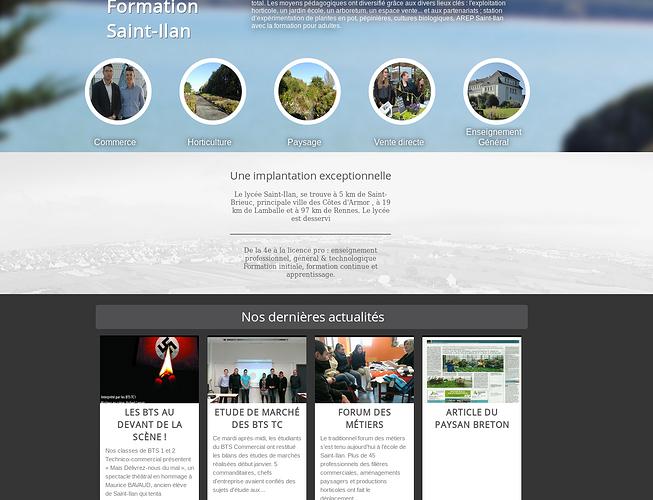 Lycée Saint-Ilan à Langueux, nouveau site et commandes en ligne stilan3