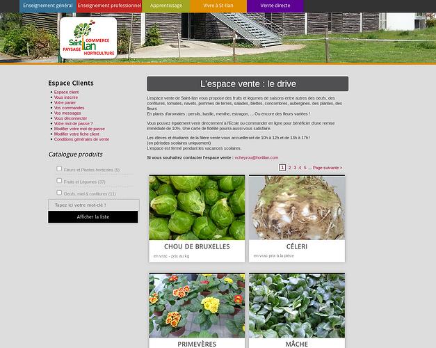 Lycée Saint-Ilan à Langueux, nouveau site et commandes en ligne stilan4