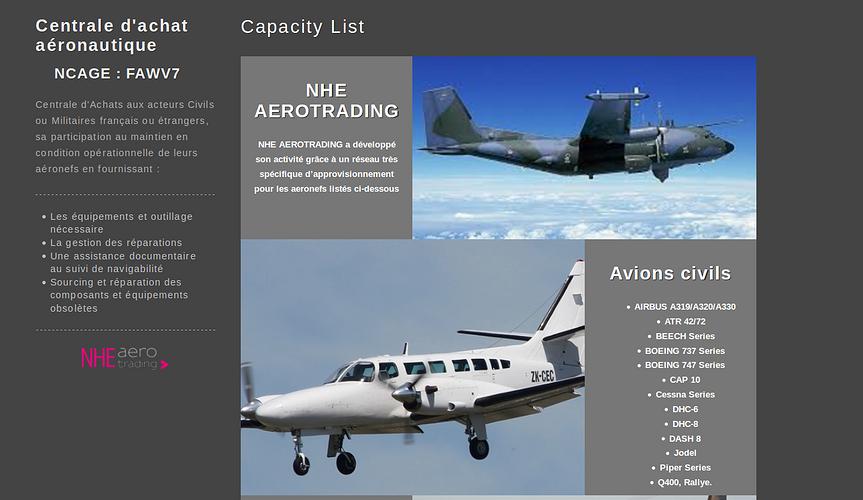 NHE AEROTRADING: centrale d''achat aéronautique nhe3