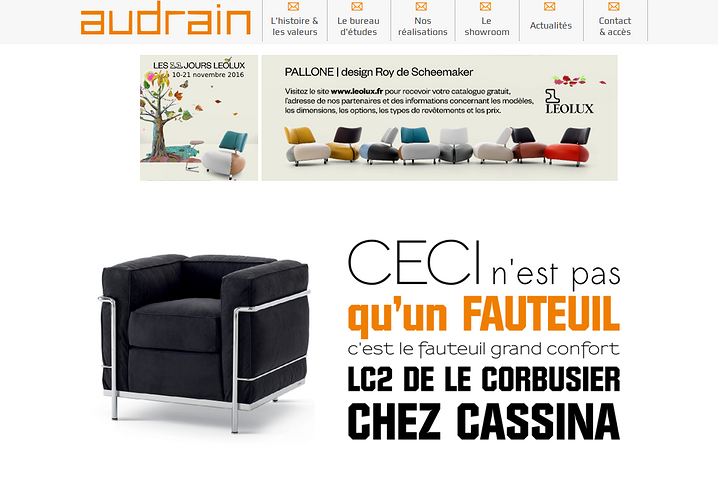 Audrain - Saint-Brieuc: un site design ! audrian2
