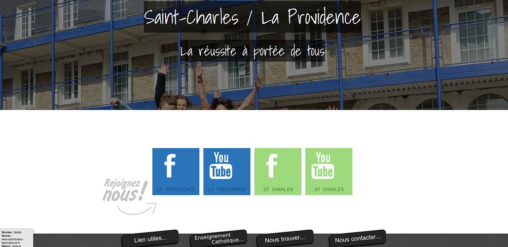 Groupe scolaire Saint-Charles - La Providence - St Brieuc: reprise du site Internet scp2