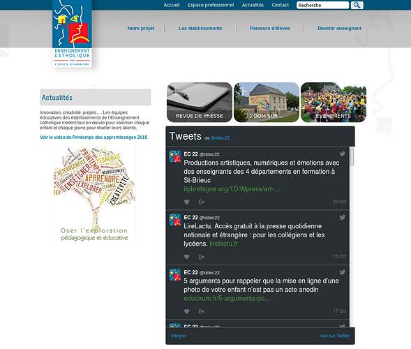 Direction Diocésaine des Ecoles Catholiques - DDEC22 : véritable base de données ddec2