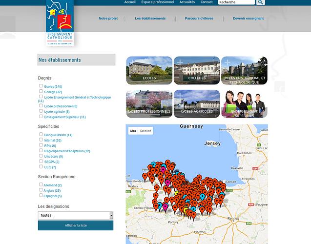 Direction Diocésaine des Ecoles Catholiques - DDEC22 : véritable base de données ddec3