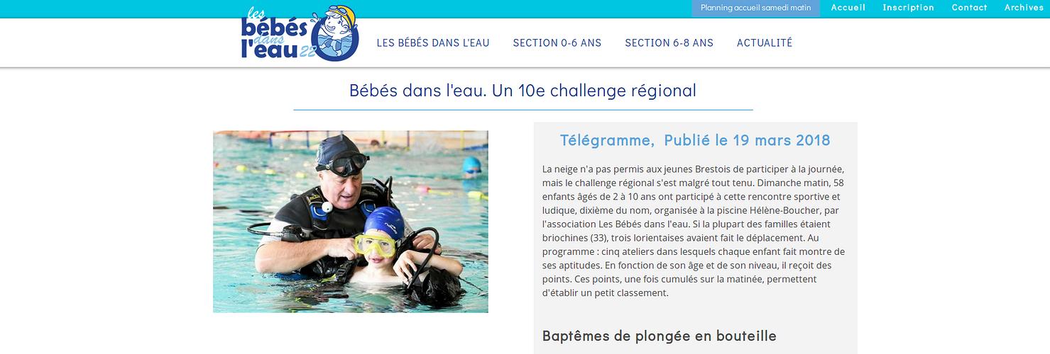 Site Internet de l''association Les Bébés dans l''Eau - Saint-Brieuc bbdsleau3