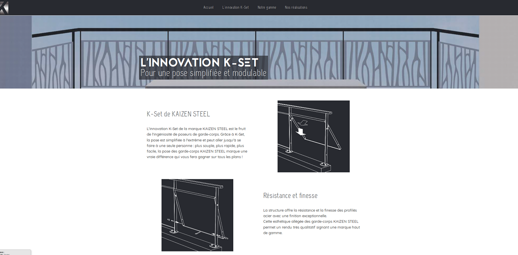 Site Internet de Kaizen Steel - Design metal 0