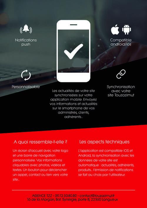 Une application sur Android et IOS pour mieux informer et diffuser vos informations versoappli