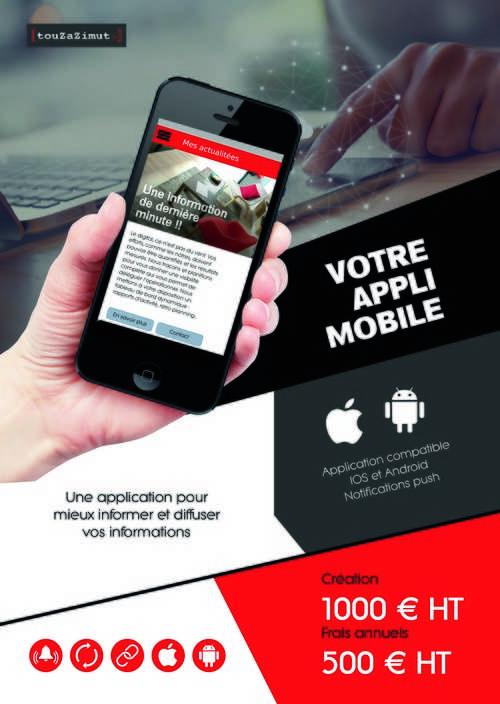 Une application sur Android et IOS pour mieux informer et diffuser vos informations 0