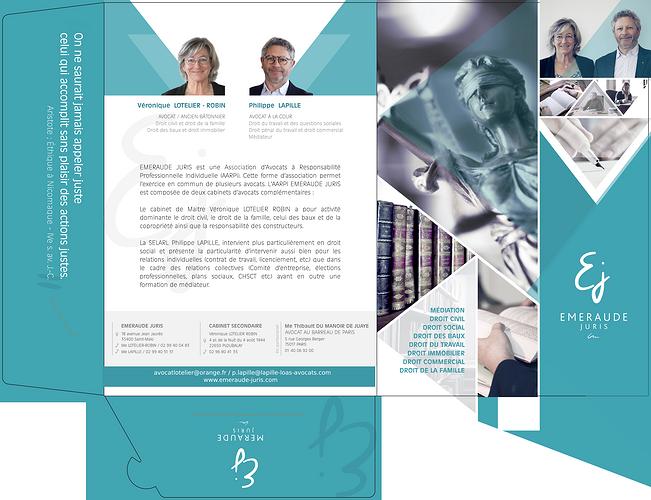 Création charte graphique Cabinet d''avocat - Saint-Malo (35) pochetterabatej2