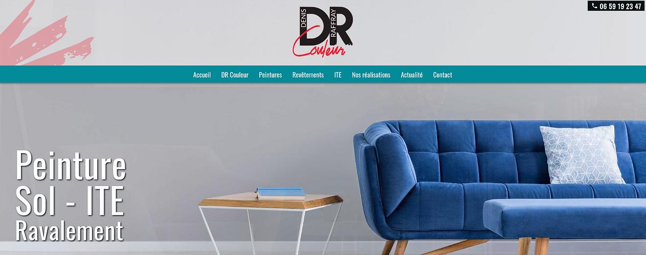 Création du site internet de DR Couleur- Plérin (22) capture-dr-couleur