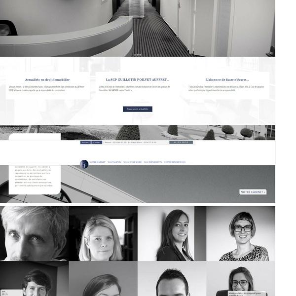 Création site Internet Guillotin & Associés : avocats Rennes-Saint-Brieuc
