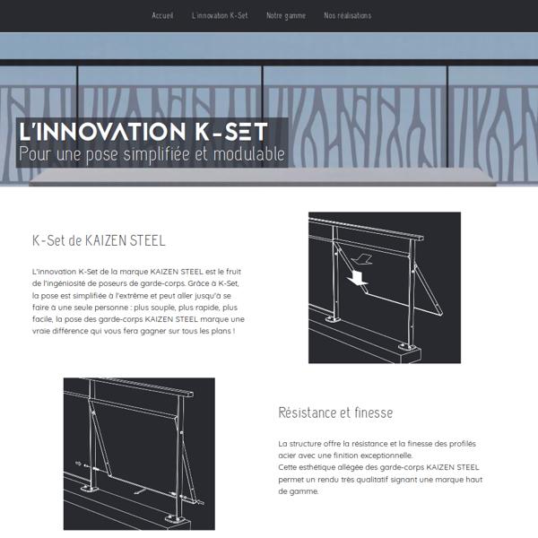 Site Internet de Kaizen Steel - Design metal
