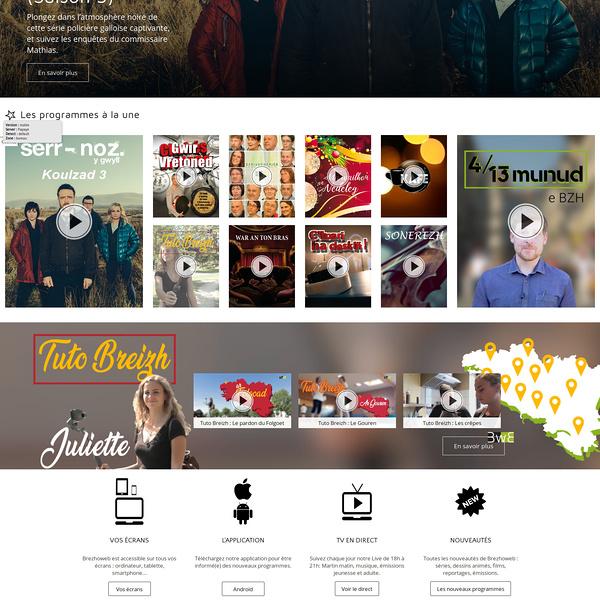 Site web et appli mobil de la web TV brezhoweb (56 - Auray )